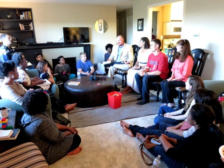 That evening at the Parlour's house, the Seattle Mission Team celebrated God's victory with pizza followed by Tim Kernan preaching a short charge on JESUS AND HIS DISCIPLES BAPTIZED!