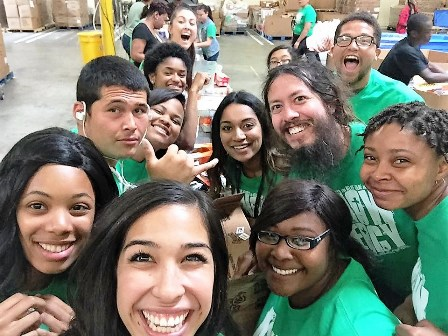 The IE MERCY Ambassadors had a blast packaging food to distribute to needy families!