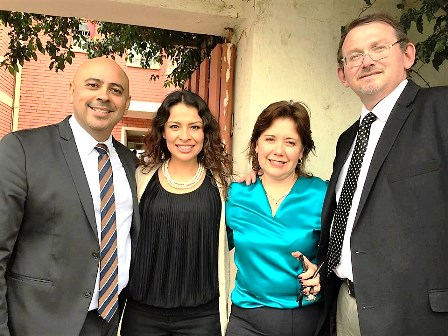 Carlos & Lucy Mejia (left) and Hector & Adriana Gomez are the visionary founders of SoldOut Press International!