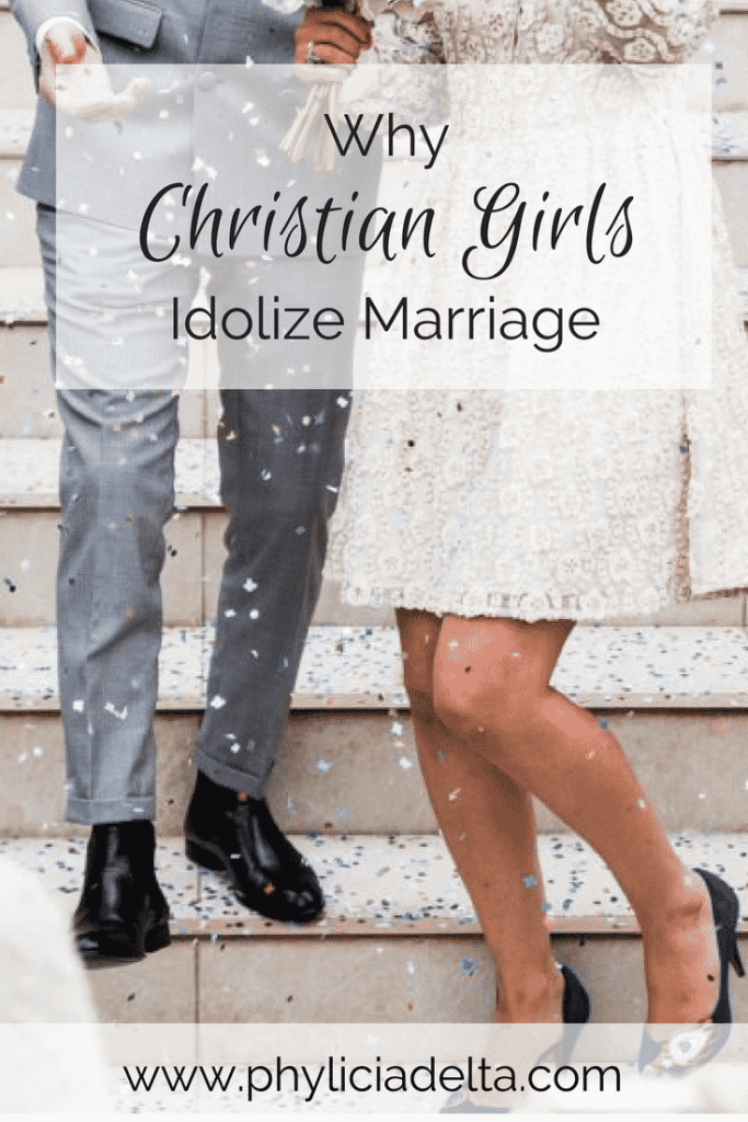 The desire for marriage isn't wrong in itself; our desires are created by God. The problem arises when Christian girls desire marriage for the wrong reasons.
