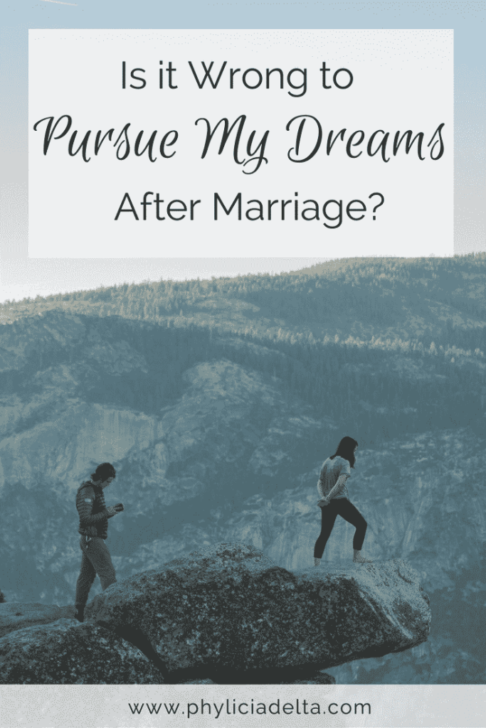 How do you support your husband while also pursuing your dreams?