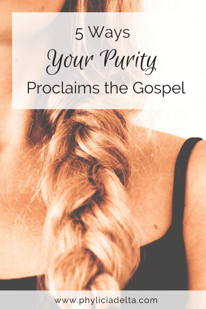 Your purity is not about you. It is a witness for Christ in this world.