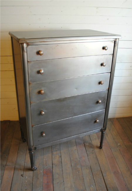 Vintage Steel Highboy Dresser Phylum Furniture