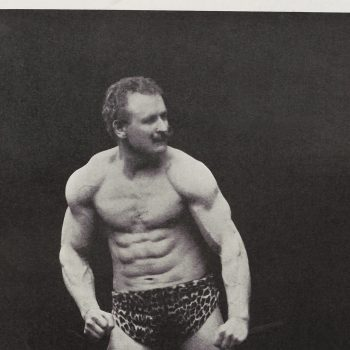 Iconic Image of Eugen Sandow Flexing His Muscles