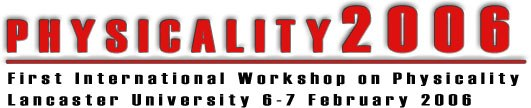 Physicality 2006 workshop logo