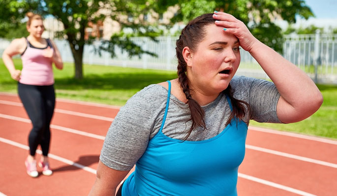 Women Suffering from Heat Exhaustion
