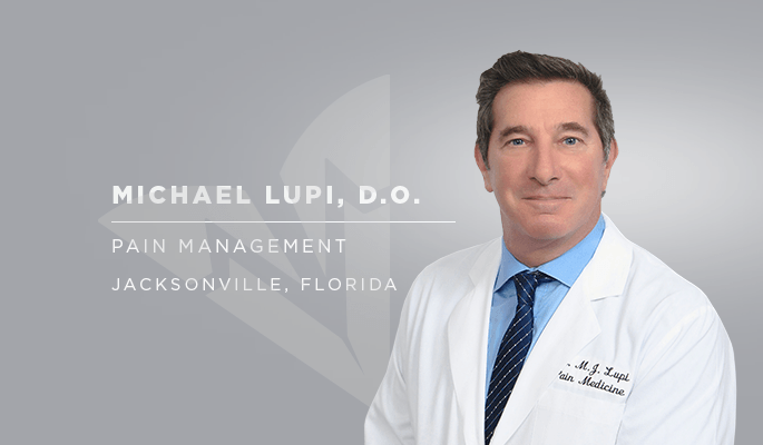 Dr. Michael Lupi, pain management, Jacksonville, FL