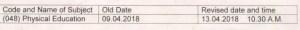CBSE Exam Date Sheet 2018