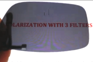Polarization with 3 Filters
