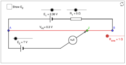Geogebra Simulation of a Potentiometer