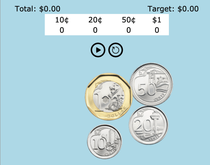 Javascript Game to Learn How to Count Money