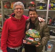 Nicky Hayden's Arai helmet, Roberto Marchionne, Alfredo Dente