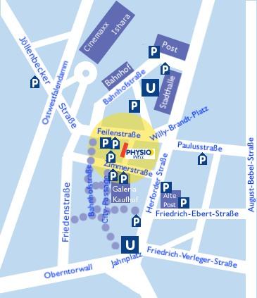 Physiowell Bielefeld  Feilenstraße 3 / in der Eilers-Passage 33602 Bielefeld