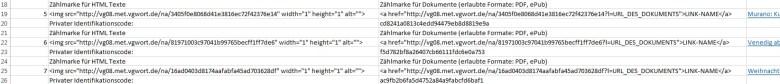 VG-Wort-Zählmarken in Excel
