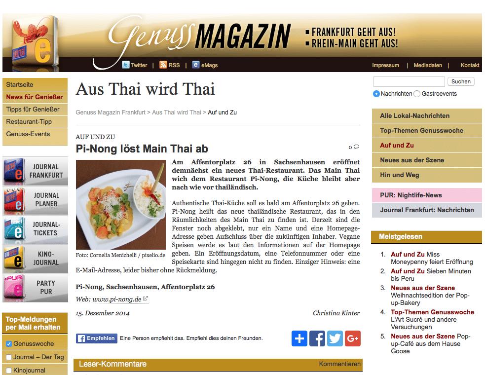 Pi-Nong löst Main Thai ab
