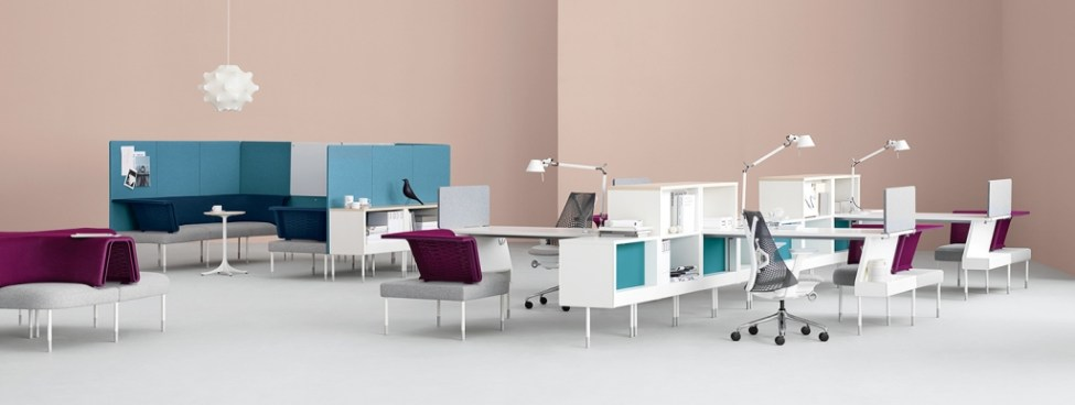 Photo Courtesy: FuseProject. Yves Behar designed new modular furniture for this programmable office concept for Herman Miller