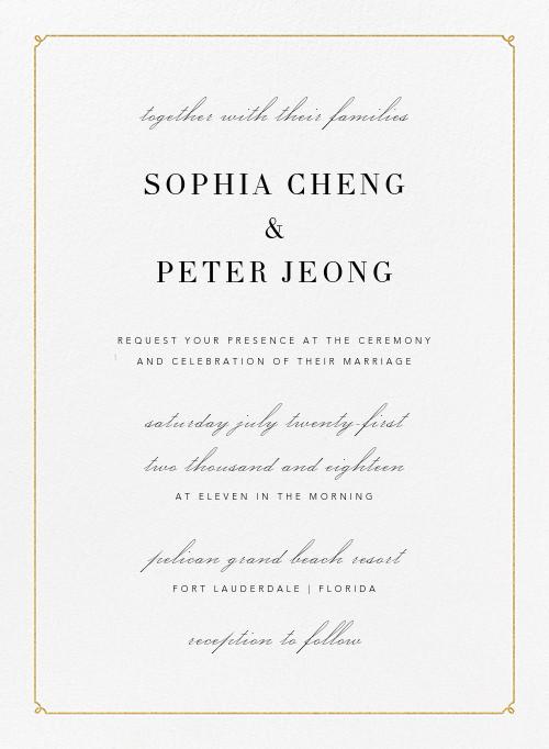 classic wedding invitations send