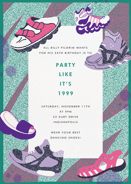 90s theme party invitations send