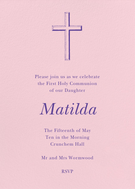 first communion invitations send
