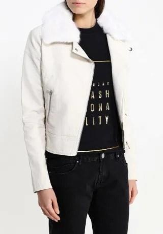 Куртка кожаная FUR COLLAR PU