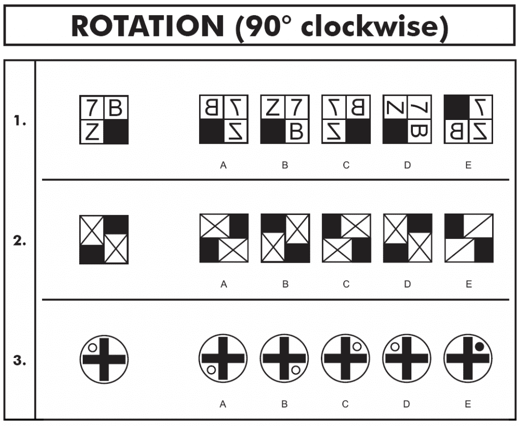 11 Plus Non Verbal Reasoning Reflection And Rotation Paper