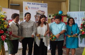 Ribbon Cutting Ceremony with PIA and Dumaguete City officials