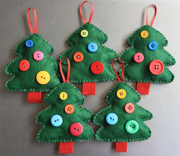 Lavoretti di natale in pannolenci, le palline da appendere. Alberelli Di Natale In Feltro O Pannolenci 35 Idee Fai Da Te Pianetabambini It