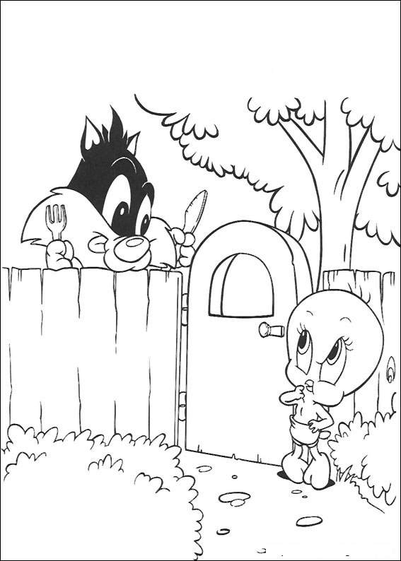 Baby Looney Tunes Coloring Pages Free Coloring Pages Globalchin