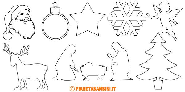 Natale presepe di carta da ritagliare. 144 Sagome Natalizie Da Ritagliare Pianetabambini It