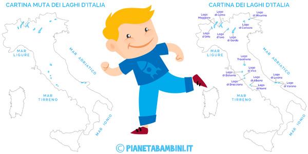 Cartina Dei Laghi Ditalia In Versione Muta O Completa