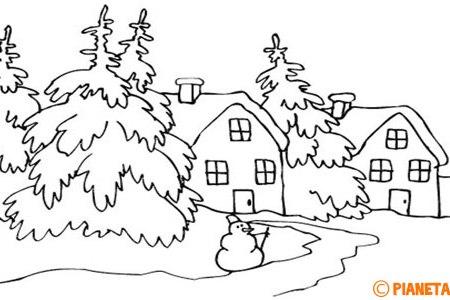 Disegni Paesaggi Invernali Da Colorare Coloradisegni