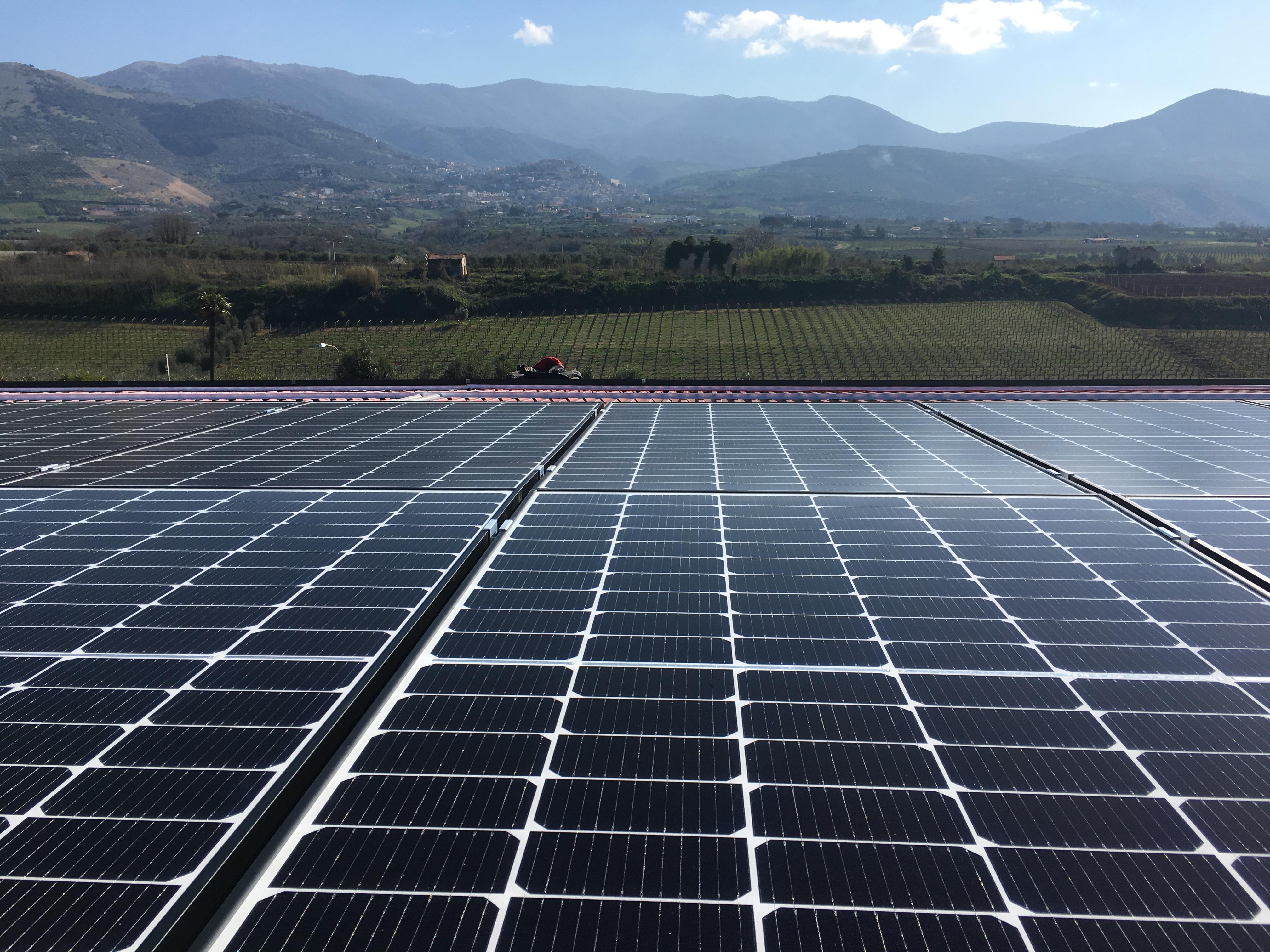Attività Pianeta Primo Quarto 2020 – Installazione impianti industriali – Impianto da 100 kWp su Industria Vinicola