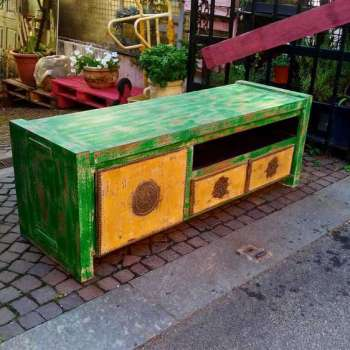 porta tv in legno teak