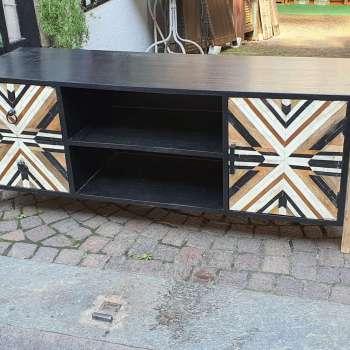 porta tv legno massello