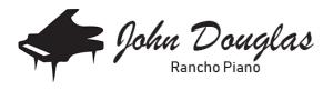 John Douglas Rancho Piano Logo