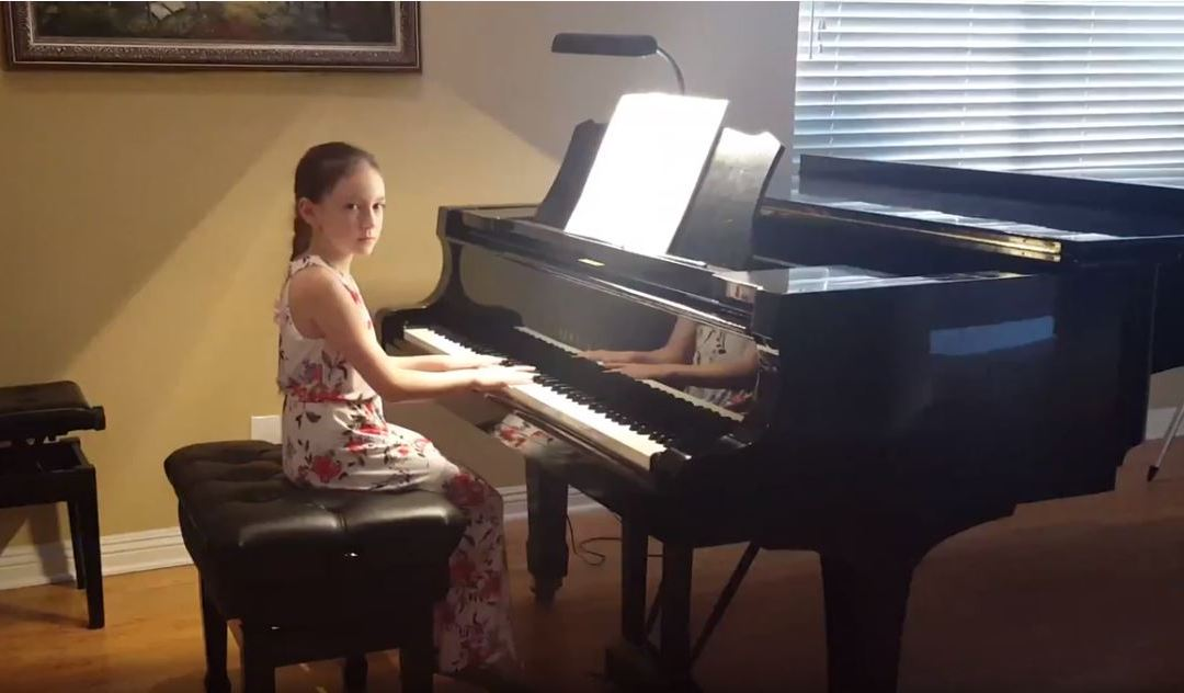 Anna Plays Piano Blues