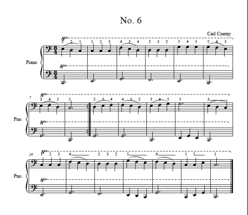 czerny piano lessons
