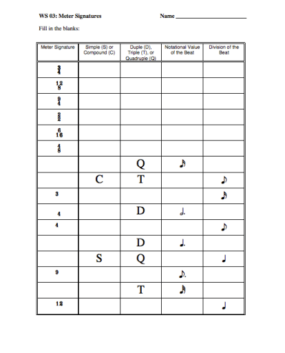 music theory worksheets free