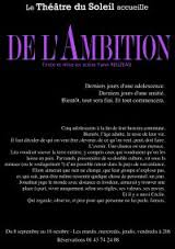 De l'Ambition - Yann Reuzeau_affiche