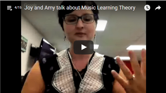 Joy and Amy on Music Learning Theory