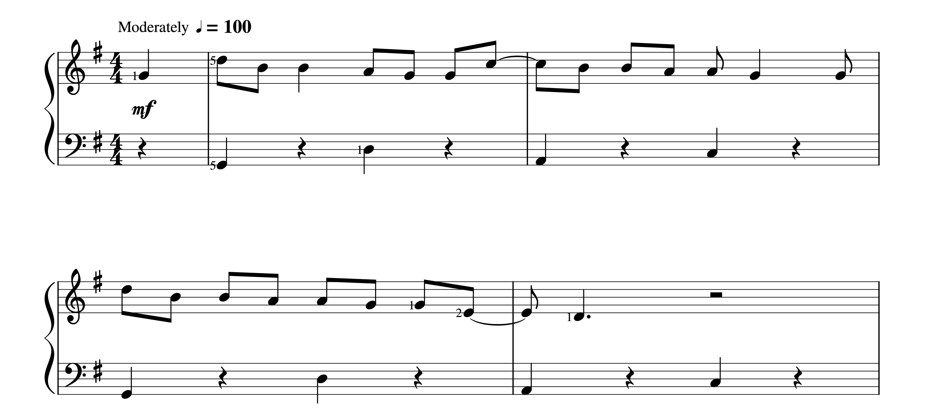 All Star PIano Sheet Music - Verse - Easy Version