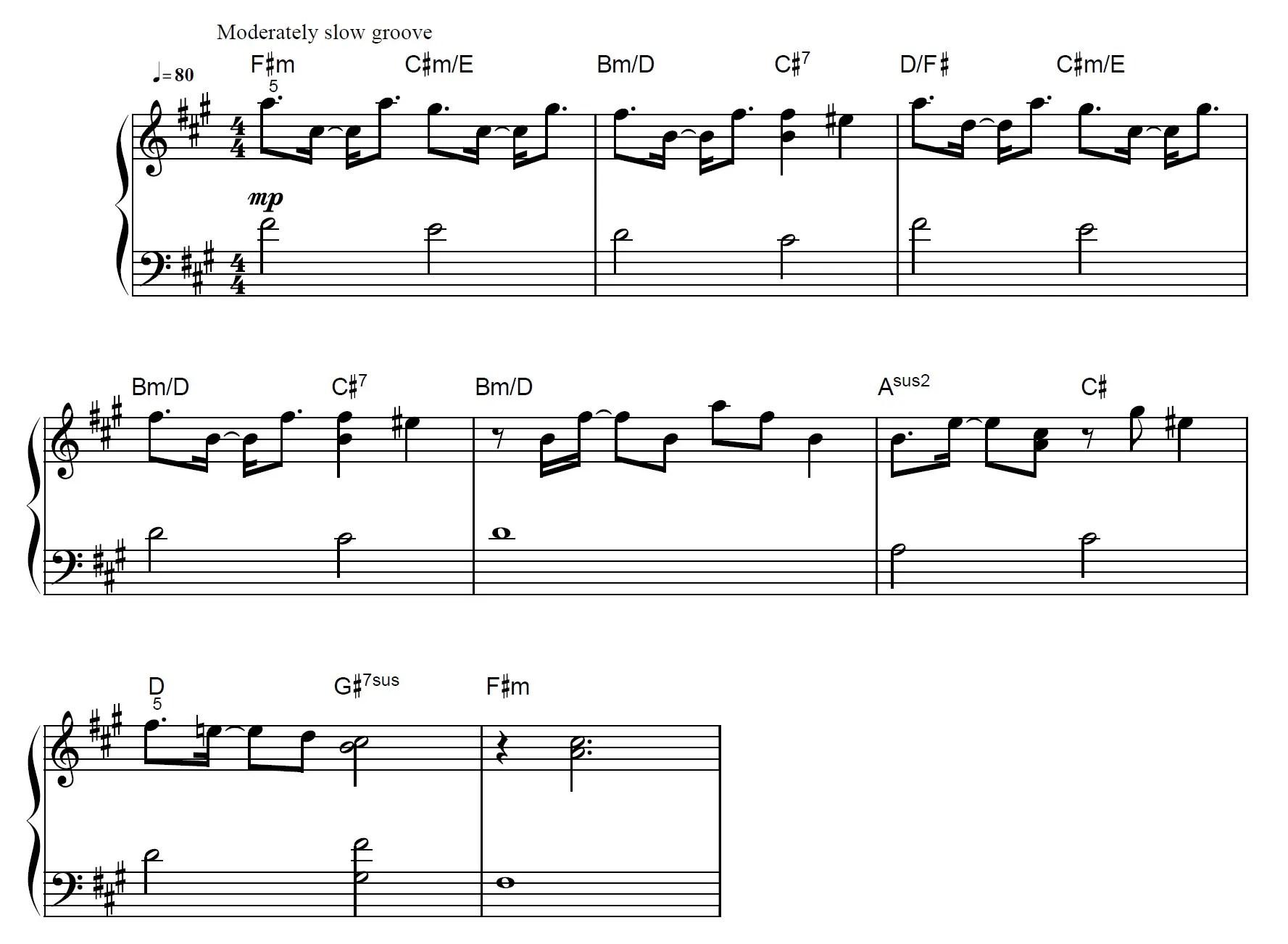 Lucid Dreams Piano Sheet Music Example