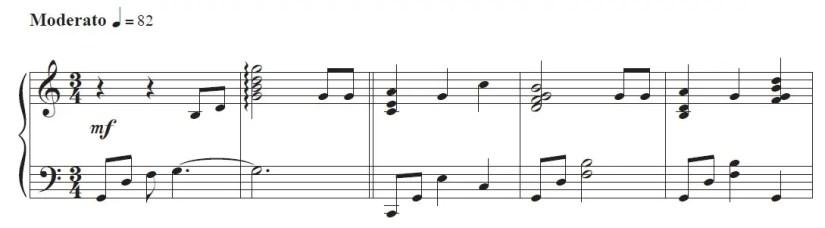 Happy Birthday Piano Sheet Music - Easy Version (first 5 bars)