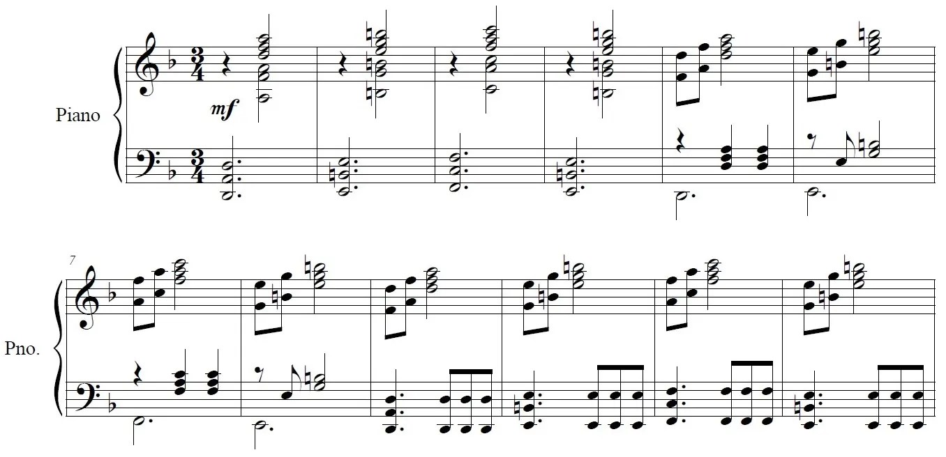 Song of Storms piano sheet music example