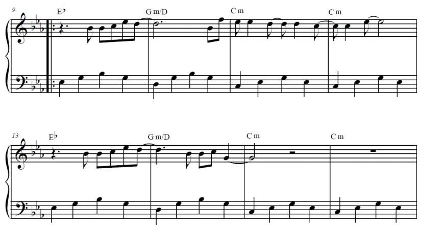 Titanium Piano Sheet Music - Verse - Easy Version