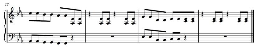 Kahoot Piano Sheet Music - Last Line