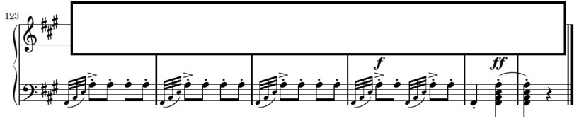 Turkish March Piano Sheet Music - Ending - Left Hand