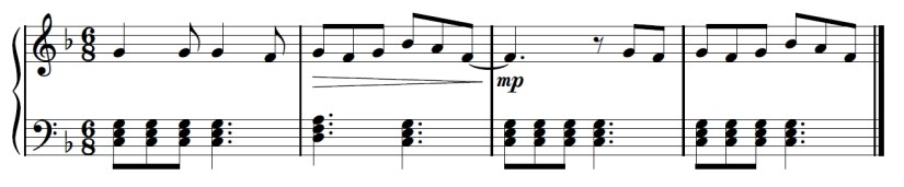 Yuri On Ice Piano Sheet Music - Second Last Line - C Chord 3rd Bar