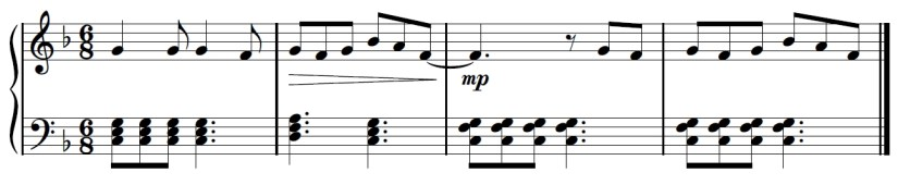 Yuri On Ice Piano Sheet Music - Second Last Line - D Chord C Chord