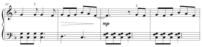 Yuri On Ice Piano Sheet Music - Second Last Line